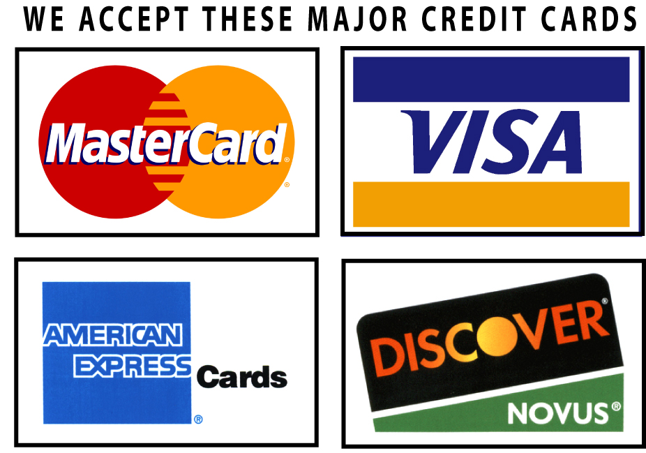 Image result for credit cards accepted